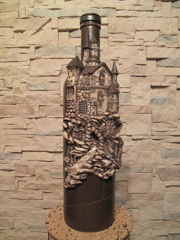 аккумуляторе декор бутылки с вином фото фишка том