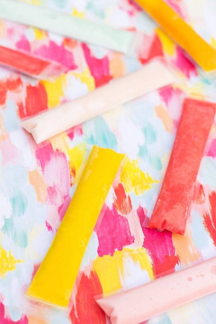 Boozy Coconut Fla-vor-ice Freeze Pops Recipe   Sugar & Cloth