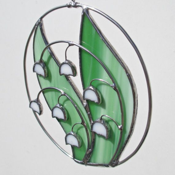 Lily of the Valley Stained Glass and Wire by FiveSparrows on Etsy