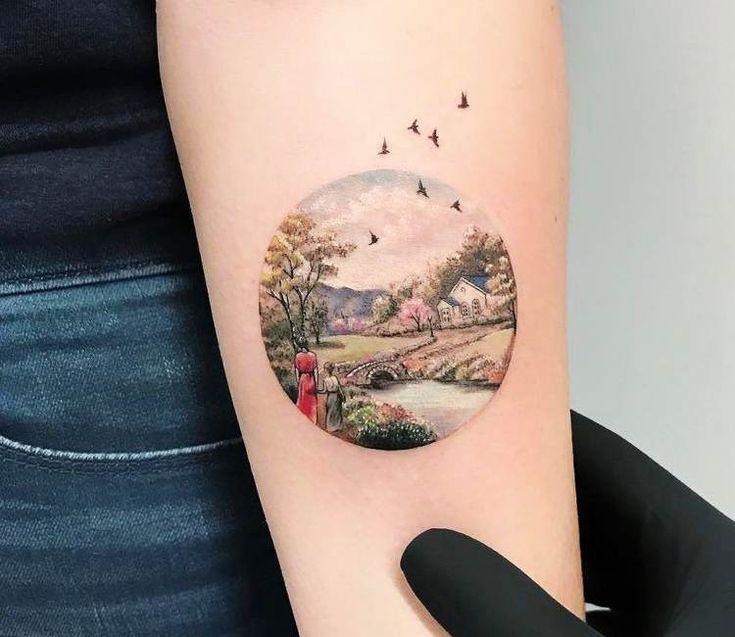 Landscape tattoo by Eva Krbdk