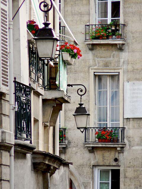 : Balconies, Paris France, Of The, I Love Paris, La Cité, Street Lamp, Window Boxes