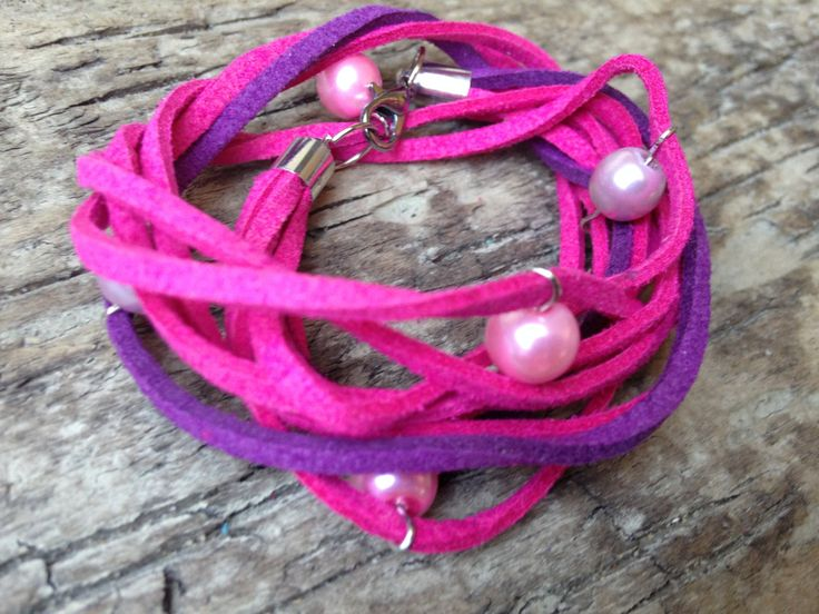 Pink and Purple Double Wrap Leather Suede Hippie Handmade Bracelet with Pearl Glass Beads by EffyBuu on Etsy  #bracelet #suede bracelet #leatherbracelet #handmadebracelet #glassbeads #glassbeadsbracelet #handmade #Doublewrap #wrapedbracelet #babyblue #royalblue #bluebracelet #hippiebracelet #hieppe #pearlglassbeads