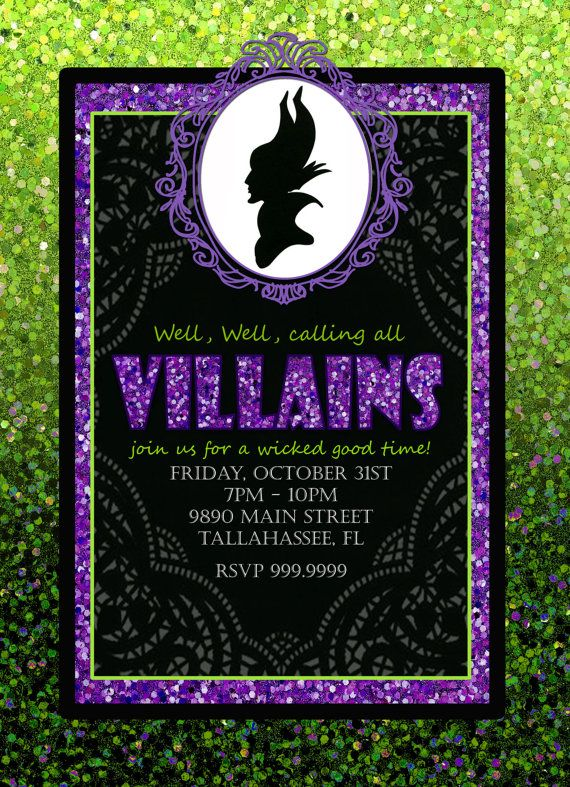 DIY Printable Maleficent Party Kit: Digital Invite by MagicbyMarcy