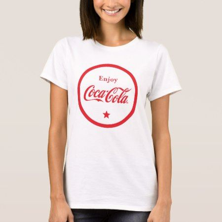 Enjoy Coca-Cola Badge T-Shirt - tap, personalize, buy right now!