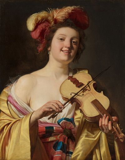 The Violin Player | 1626 | Mauritshuis | Public Domain Marked