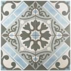 Merola Tile, Evasion Azul 17-3/4 in. x 17-3/4 in. Ceramic Floor and Wall Tile (11.33 sq. ft. / case), FPEEVAAZ at The Home Depot - Mobile