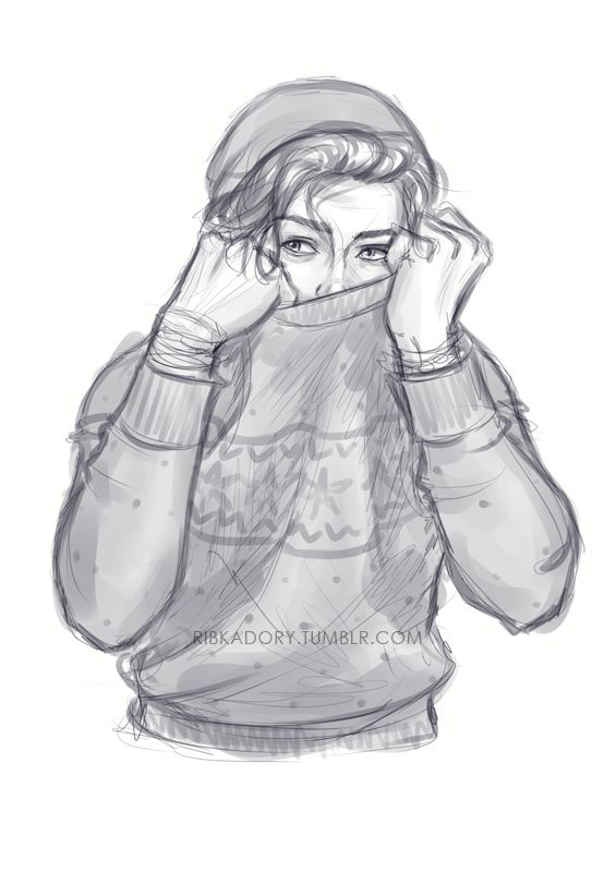 """) I pulled up my sweater around my head as I sunk my way into the living room, I heard the cries of. """"No,don't go in there don't do it!"""" My best friend was watching a horror movie, at midnight. Weirdo.I walked behind his curled up form on the couch, I leaned my hands in. I loved him deep down I truly loved him and being roommates didn't help the situation. I wrapped my arms around his shoulders. """"Grrrrr."""" I growled softly."""