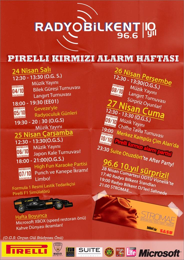 Türkiye'nin en genç radyo istasyonu 96.6 frekansındaki 10.yaşını kutluyor. Her yıl merakla beklenen Kırmızı Alarm partisi bu yıl da sizleri eğlendirmeye devam ediyor. Eğlenceyi bu kez 5 güne çıkardık ve adını Kırmızı Alarm haftası yaptık.