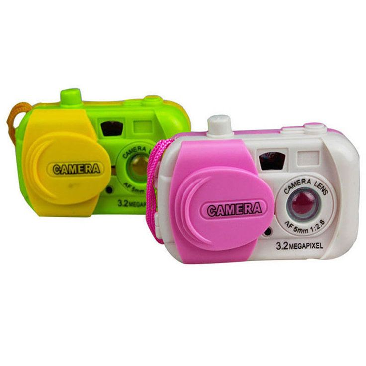 Color Ranom Camera Projection Simulation Kids Digital Camera Toy Take Photo Children Educational Plastic Gift For Baby