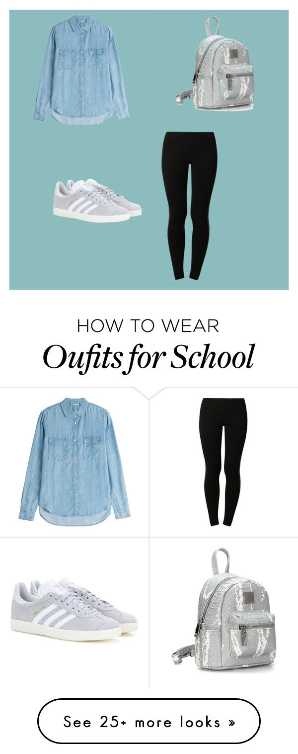 """""""School outfit for cooler weather"""" by erinmaries on Polyvore featuring 7 For All Mankind, adidas Originals and Anna Field"""