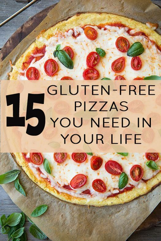 15 Gluten-Free Pizzas You Need In Your Life - These are gluten free, not necessarily fodmap free. Looks good though. Gluten Free Recipes, Gluten Free Life, #GlutenFree