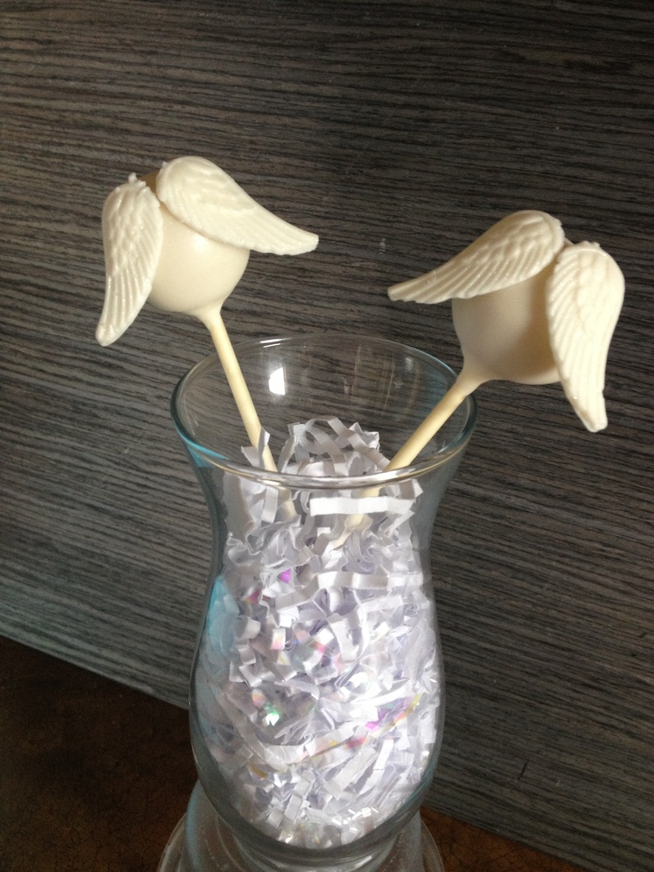 Angel wing cake pops by Haute Pop Couture