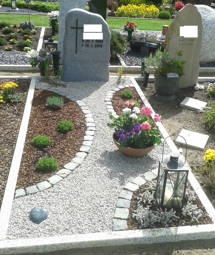 die 25+ besten grabgestaltung mit steinen ideen auf pinterest, Garten und bauen