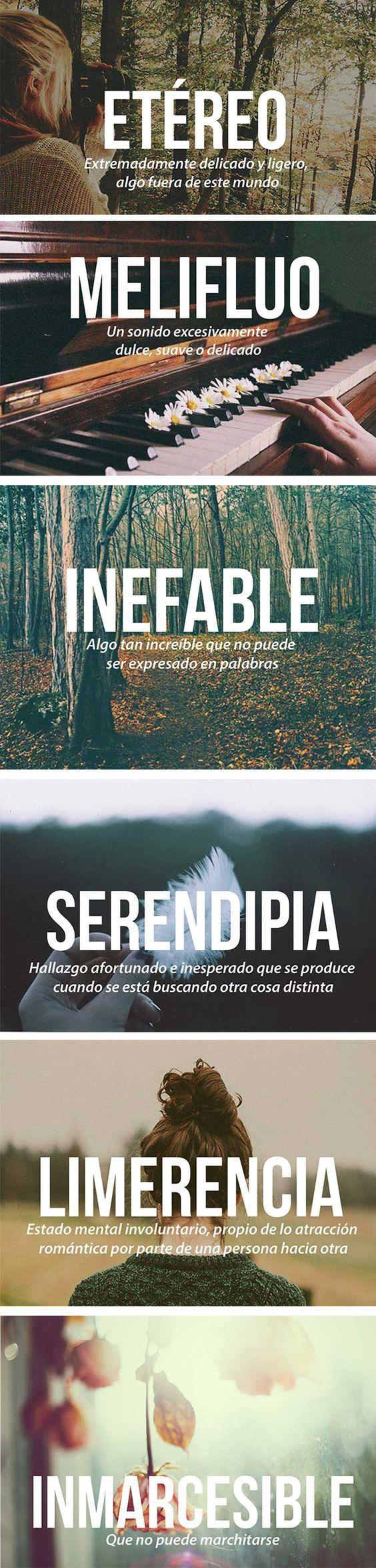 Las 20 palabras más bonitas del idioma español