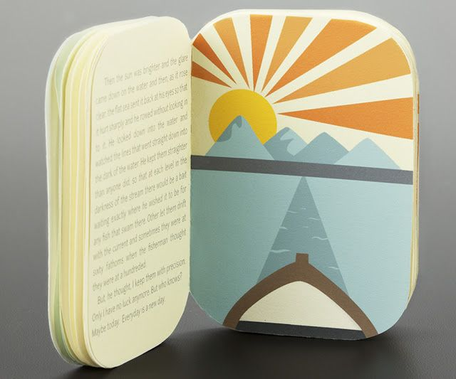 Old Man & The Sea Book Cover & Case (Student Project) on Packaging of the World - Creative Package Design Gallery