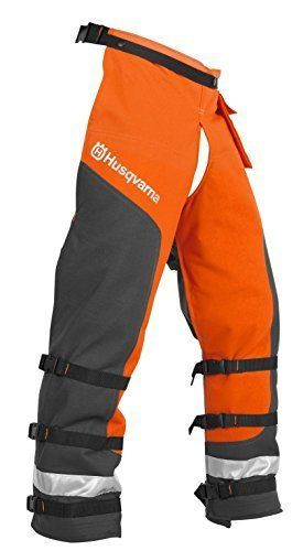 NEW! Husqvarna 587160704 Orange Outdoor    Technical Apron Wrap Chap 3...NO TAX #Husqvarna