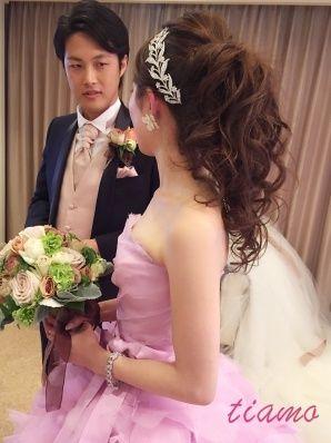 絵になる美男美女の幸せホテル挙式な一日♡♡ | 大人可愛いブライダルヘアメイク 『tiamo』 の結婚カタログ