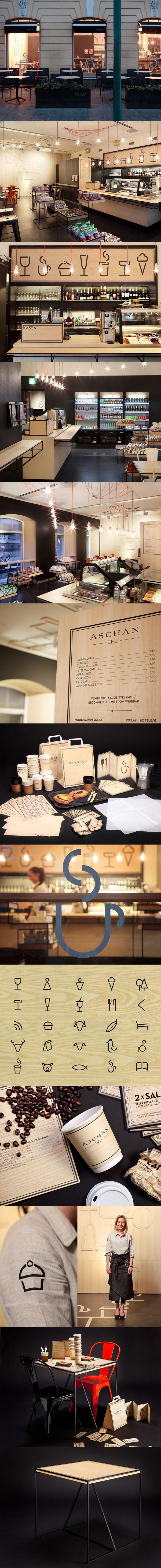 http://www.behance.net/gallery/Aschan-Deli/2185241 Great deli #packaging #branding #marketing PD