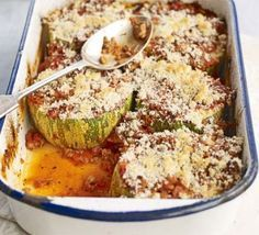 Stuffed marrow bake