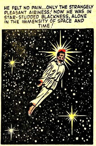 He felt no pain as he fainted while defecating. He had an Out Of Body Experience and wrote 2 x books in the subject while in the toilet . He did his best work there, let go of the universe and became one ....as he floated or it floated!