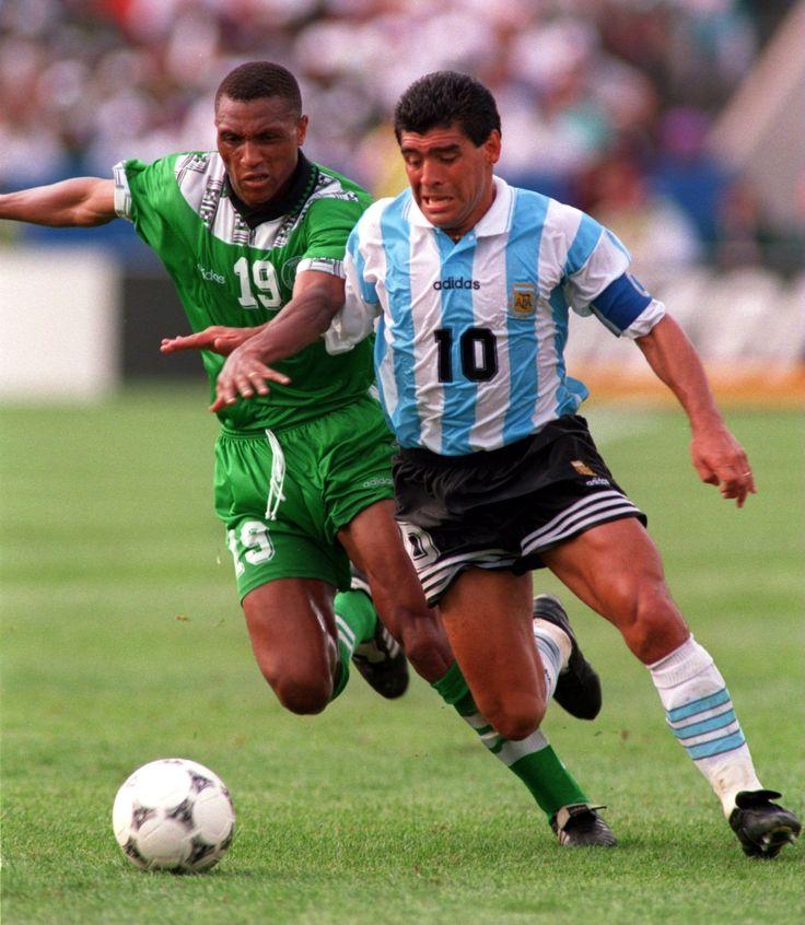 25/06/1994.Mundial USA 1994,contra Nigeria.Ultimo partido con la Selección Argentina