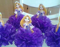 centro de mesa princesa Rapunzel