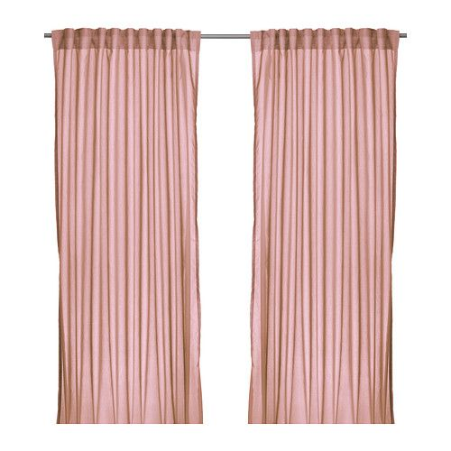 IKEA - VIVAN, Curtains, 1 pair, , The curtains let the light through but provide privacy so they are perfect to use in a layered window solution.</t><t>The curtains can be used on a curtain rod or a curtain track.</t><t>The heading tape makes it easy for you to create pleats using RIKTIG curtain hooks.</t><t>You can hang the curtains on a curtain rod through the hidden tabs or with rings and hooks.