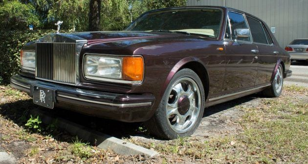Purple Parts Car: 1984 Rolls-Royce Silver Spur #USA #British, #Projects, #RollsRoyce - https://barnfinds.com/purple-parts-car-1984-rolls-royce-silver-spur/