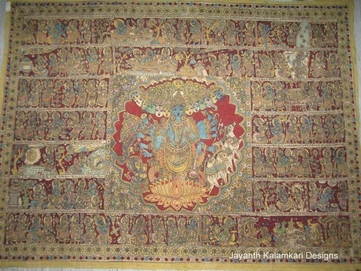 Pen Kalamkari Wall Hangings Code: JKD-WH07 Length: 77 inch Width: 57 inch
