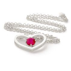 Heart Necklace by Pinelas Jewelry | Sterling Silver Mejuri Crafted Ruby.