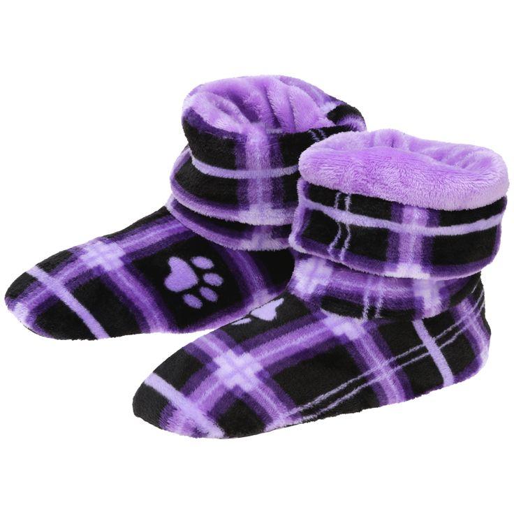 Plaid Super Cozy™ Fleece Booties – GreaterGood