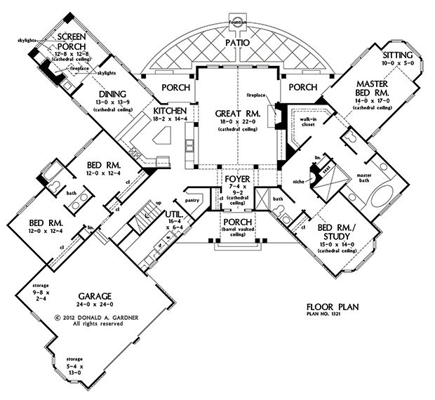 First Floor Plan Of The Sylvan House Plan Number 1321