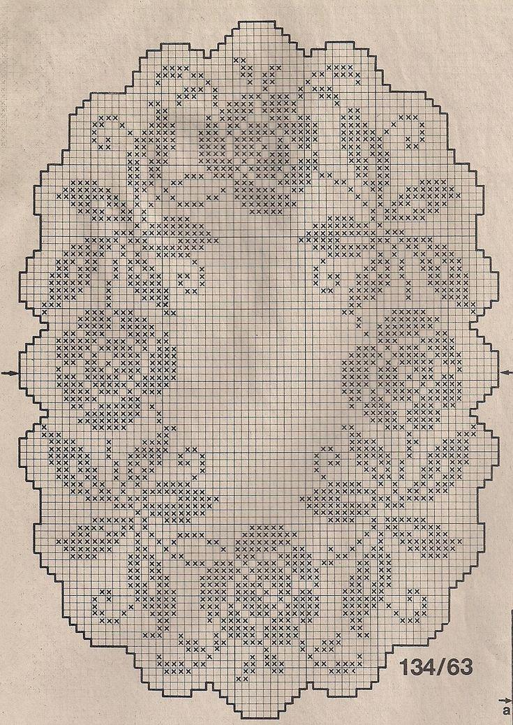 filet crochet placemat chart