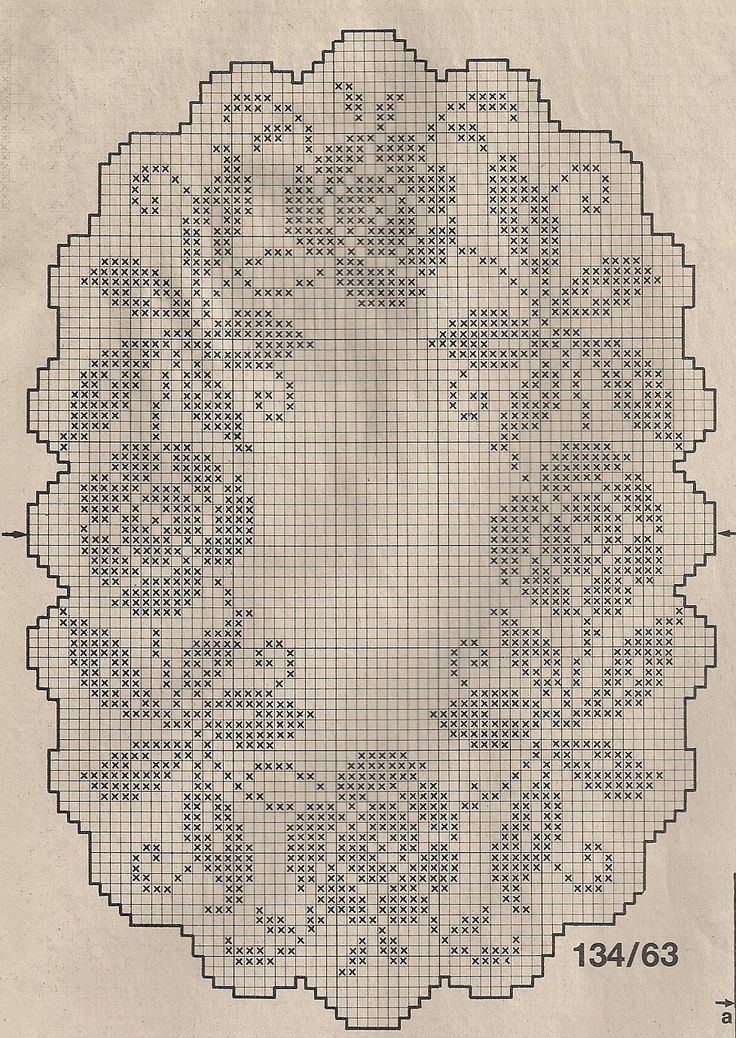 filet crochet placemat chart: