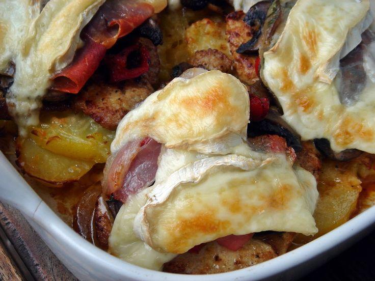 Nem vagyok mesterszakács: Dijoni rakott karaj gruyére sajtos –vajas krumpliágyon, cserépben