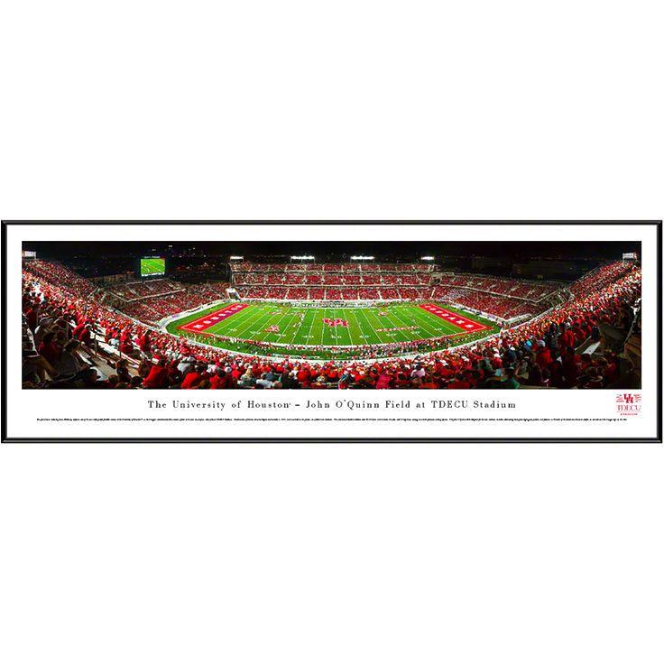"Houston Cougars 13"" x 40"" Stadium Standard Frame Panorama - $79.99"