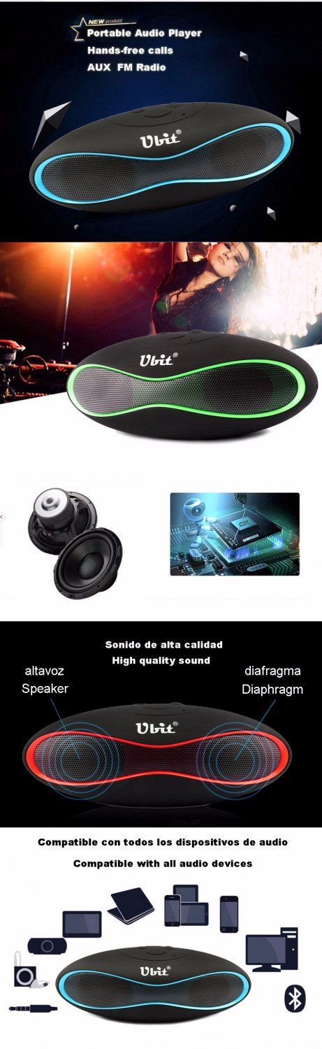 Ubit+New+X6U+Mini+Portable+Speaker+Wireless+Bluetooth+with+Strong+Bass+Audio+Player+Support+TF+Card