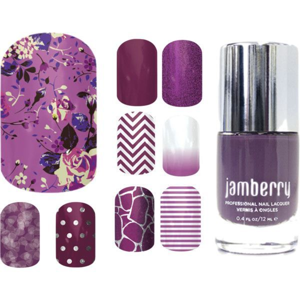 """""""Jamberry combos - Orchid Bouquet"""" by andrearuelling on Polyvore"""