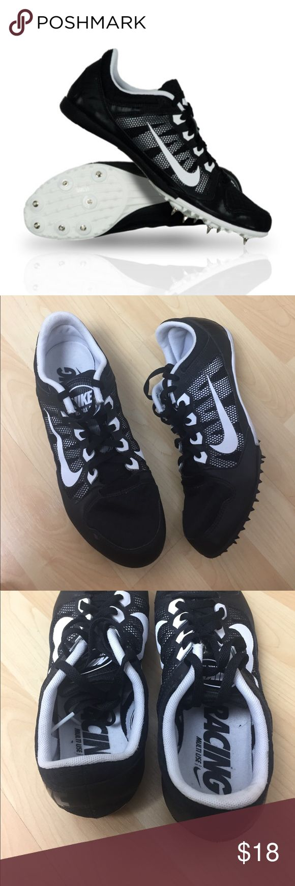 Men's Bike Track Racing Shoes Used once, great condition. Black and white. Men's 7.5 Nike Shoes Athletic Shoes
