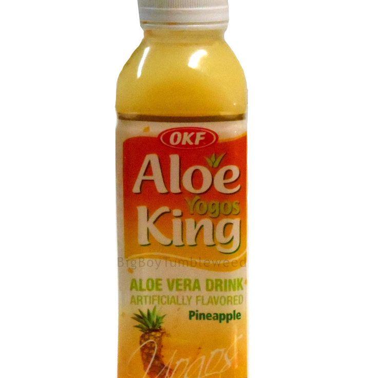 3pc OKF Aloe King Yogos Pinapple fruit milk drink ALOE VERA juice beverage 16oz #OKF #BigBoyTumbleweed