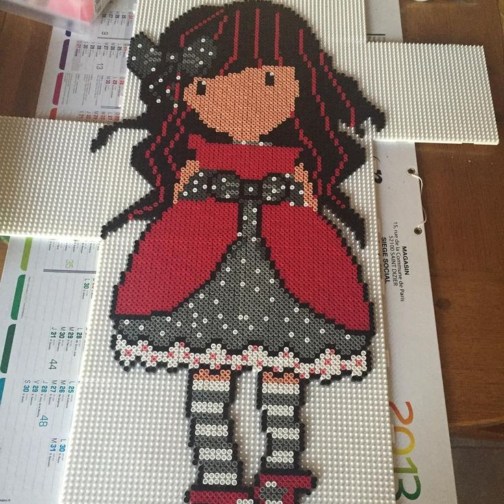 Gorjuss hama beads by perler_addicted