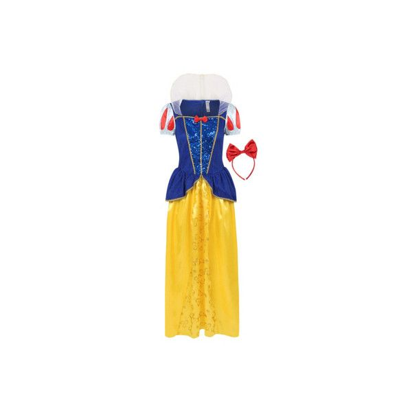 Disney Adult Disney Snow White Fancy Dress Costume ($29) ❤ liked on Polyvore featuring costumes, yellow, adult halloween costumes, adult costumes, snow white adult halloween costume, disney halloween costumes and disney costumes