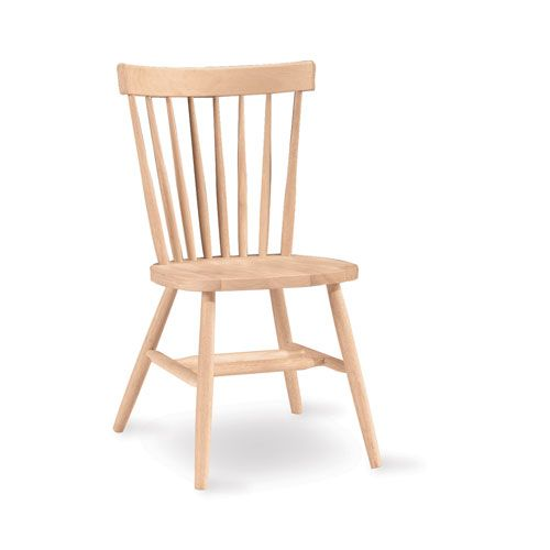 International Concepts Copenhagen Unfinished Wood Chair. Painted ChairsWooden  ChairsDining ...