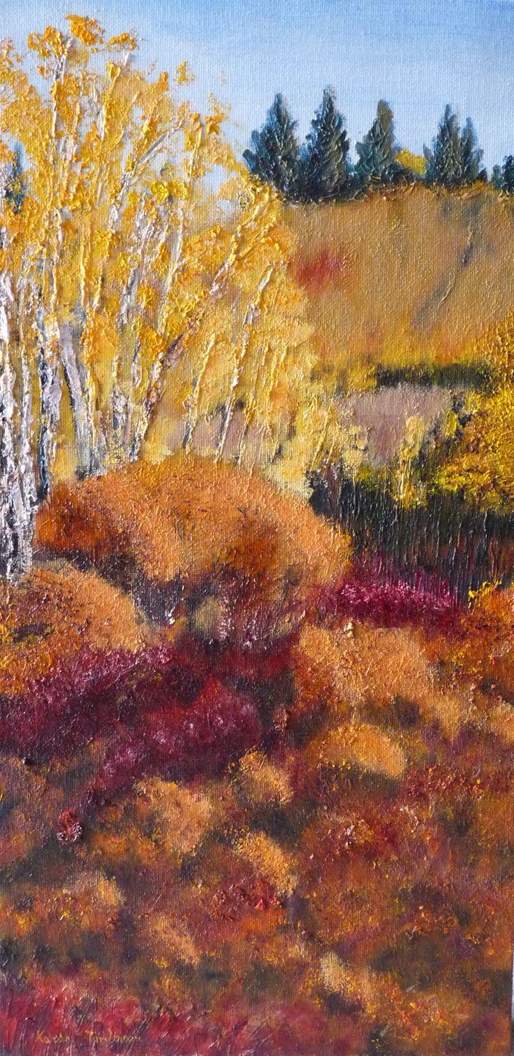 Oil on canvas wrap 13x23. Original by Karen Tomlinson, Calgary AB.