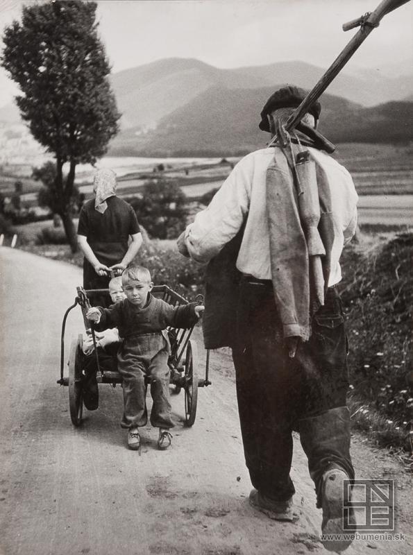 Karol Kállay: On the way from the field / Z poľa (1943)