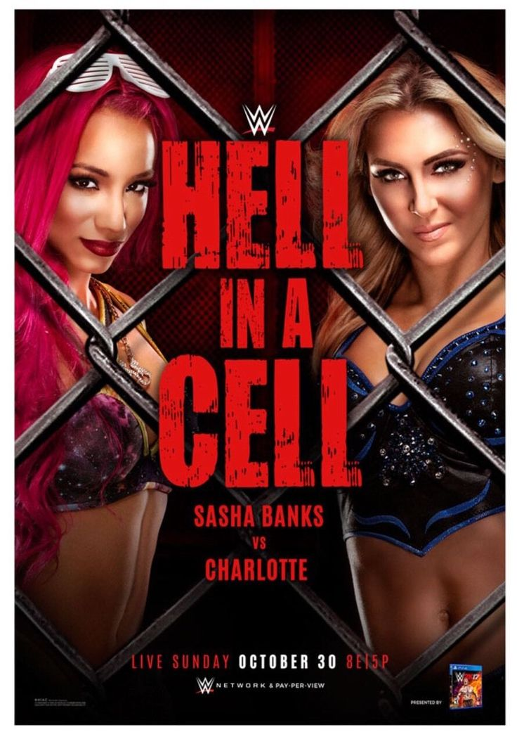 WWE Official Hell In A Cell Poster Sasha Banks Charlotte 27x39 Wrestlemania NXT - http://bestsellerlist.co.uk/wwe-official-hell-in-a-cell-poster-sasha-banks-charlotte-27x39-wrestlemania-nxt/