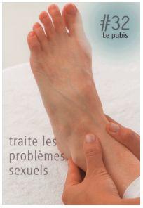 La réflexologie des pieds : Le pubis : Ce point réflexe traite les problèmes sexuels