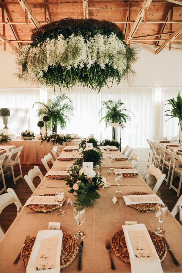 Floral Chandelier for a Botanical Wedding reception