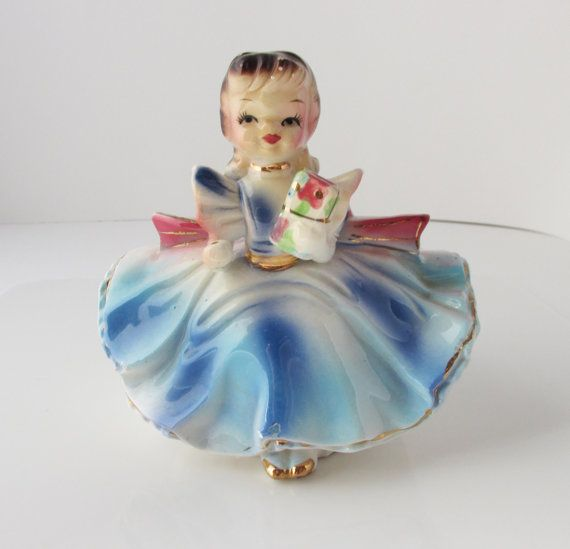 Numbered Japan Girl Planter Figurine Vintage by KanariKouture