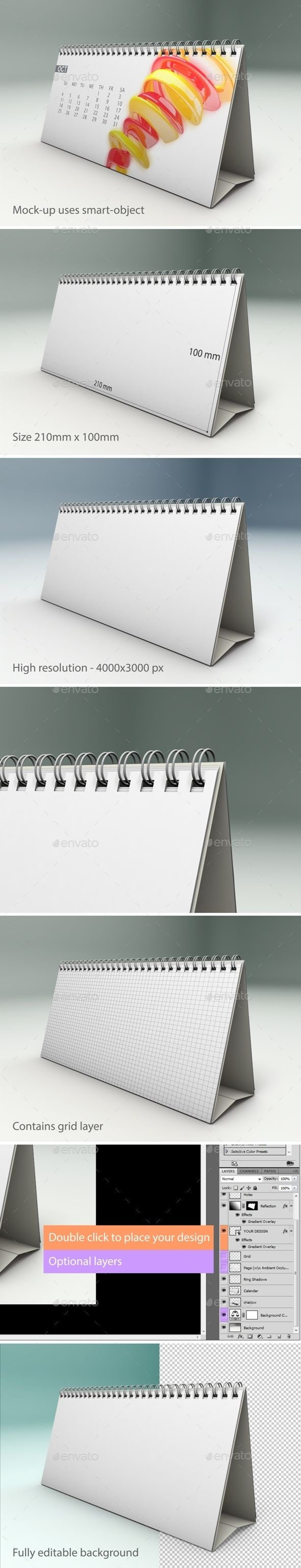 Desk Calendar Mock-Up (Photoshop PSD, CS5, 4000x3000, calendar, calendar mockup, date, day, design, desk, desk calendar, editable, field, fully, horizontal calendar, layer, mock-up, mockup, object, office, page, perspective, presentation, print, psd, realistic, size, smart, standart, stationery, template)